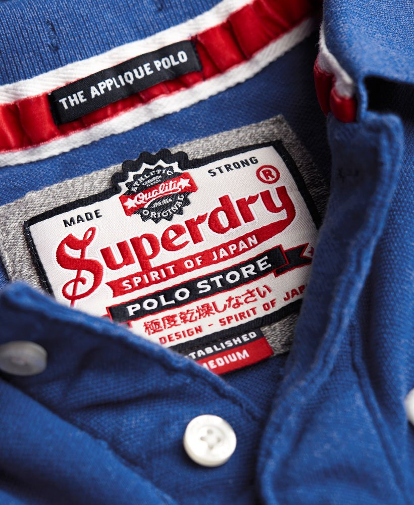 Superdry Core Appliqué Polo Shirt Herren Polo Shirts