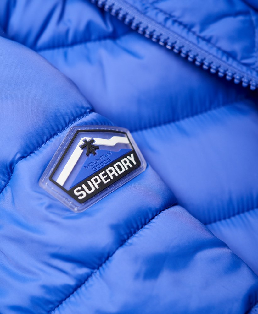 Mens Superdry Fuji Double Zip Hood Jacket Royal Blue