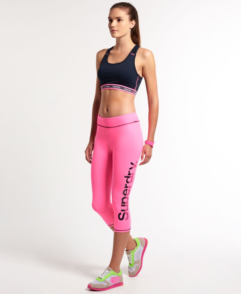 Superdry Gym Running Capri Leggings thumbnail 1