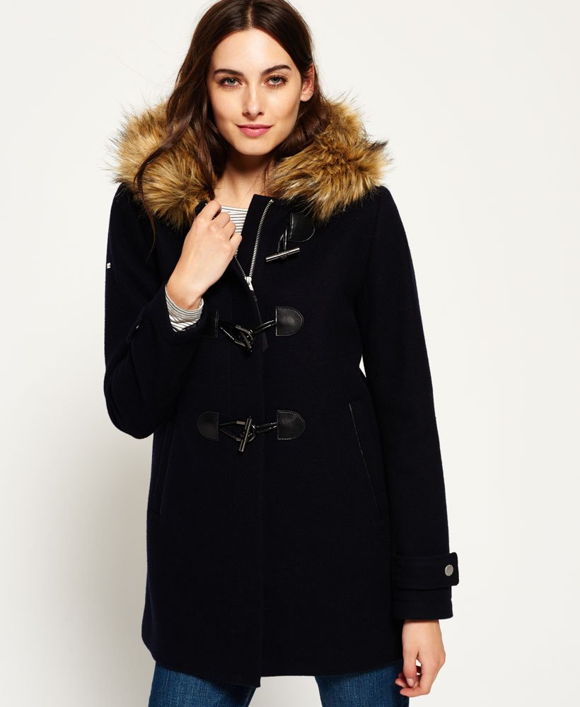 le dernier 09624 01fe0 Superdry - Duffle-coat Brooklyn - Vestes et manteaux pour Femme