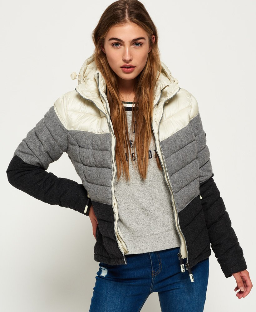 Superdry Fuji Chevron Mix Kapuzenjacke
