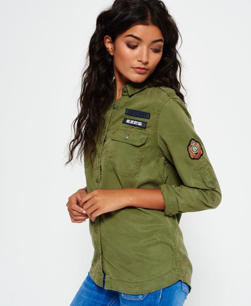 Superdry Camisa Military Camisas para Mujer