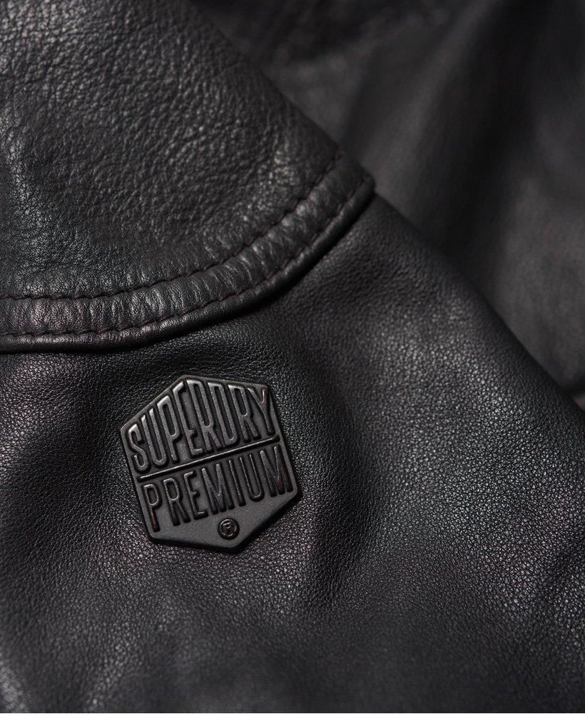 Superdry Veste Rotor en cuir pour Homme