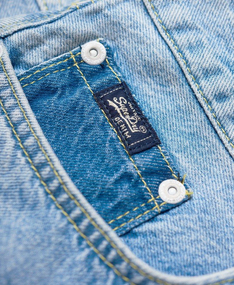 New Womens Superdry Denim Mini Skirt Maldive Tide Blue