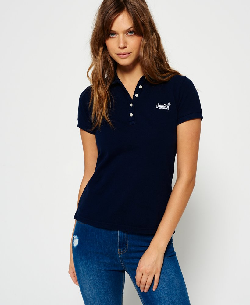 sells new authentic wide range Womens - Classic Polo Shirt in Navy | Superdry