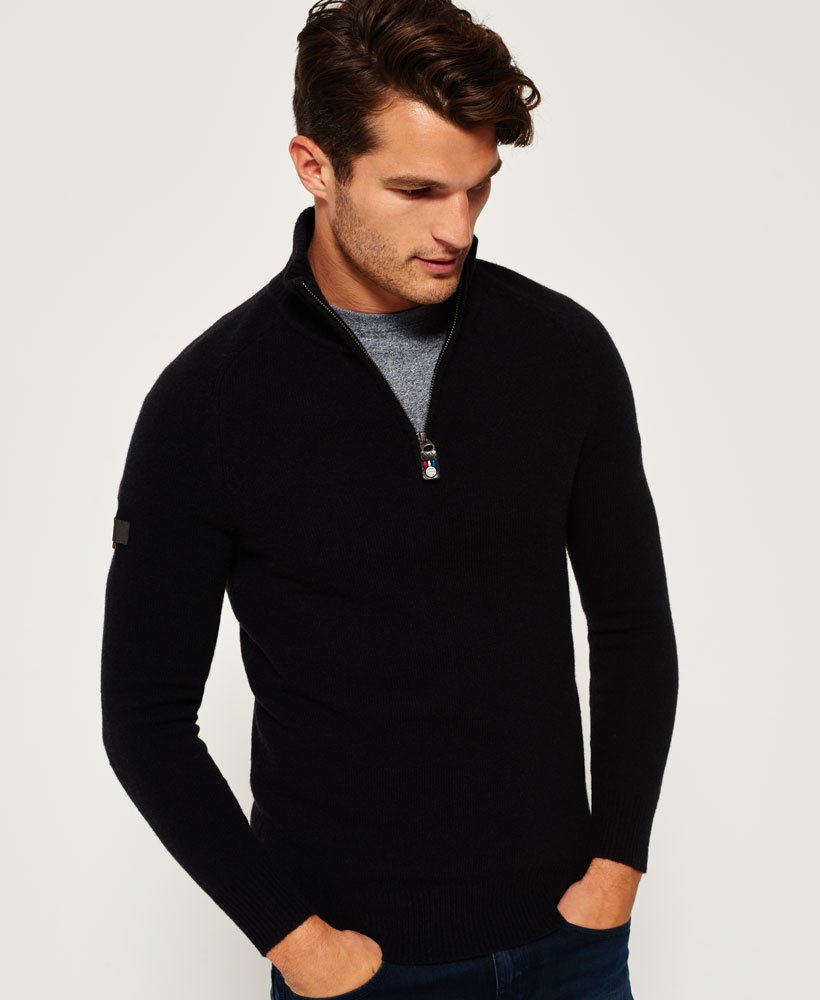 Superdry Homme Pour Pulls Harlo Henley Pull XrwzXP