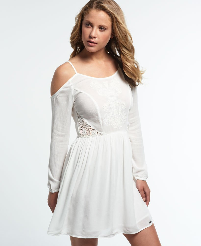 Superdry Sheer Lacy Peekaboo Dress