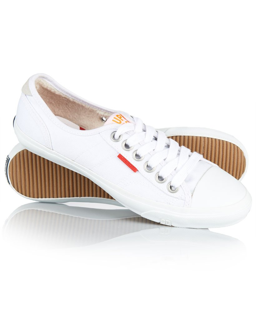 Womens - Low Pro Shoes in White   Superdry