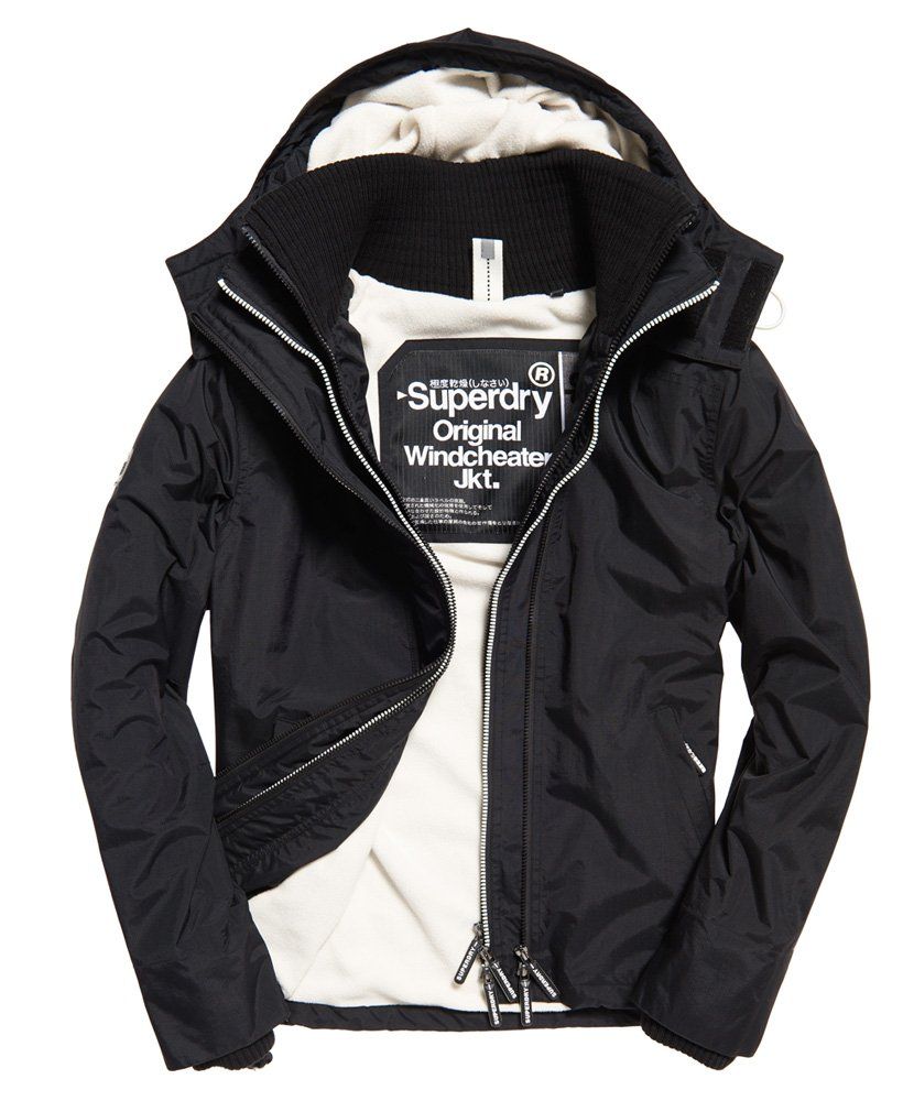 Superdry Pop Zip Arctic Windcheater met capuchon