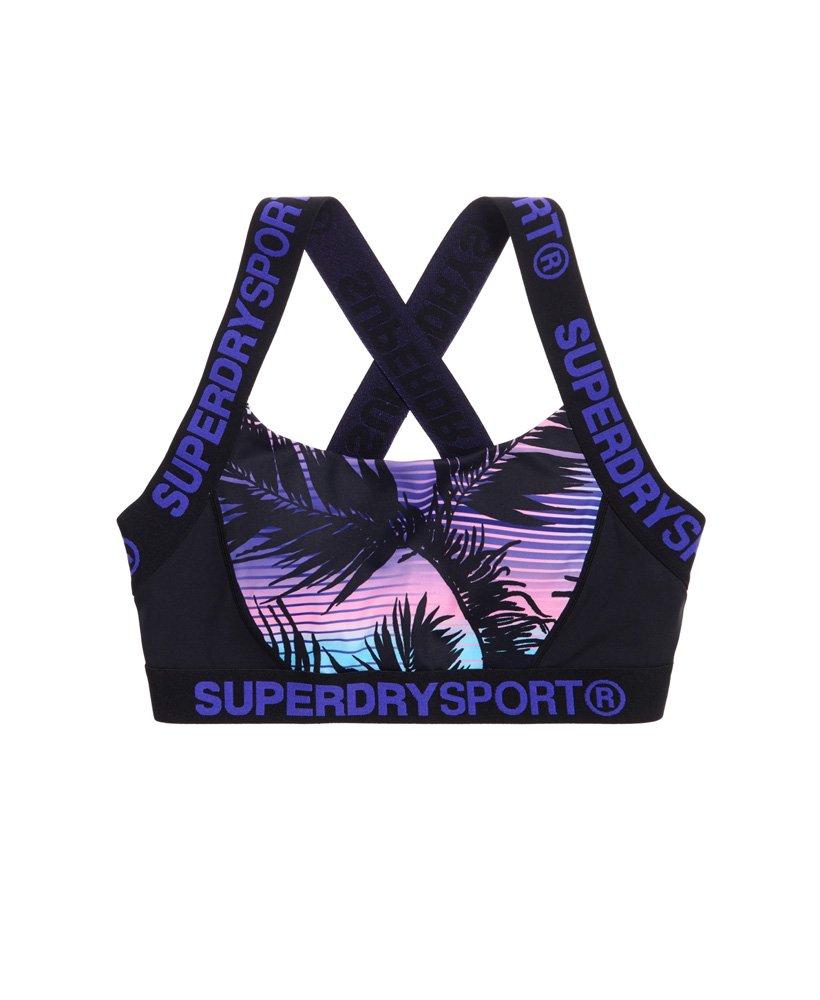 Superdry Womens Sd Sport Colour Block Printed Bra