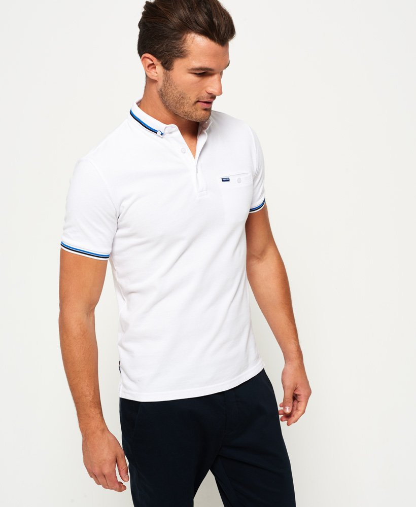 Superdry City Tipped Pique Polo Shirt Mens Polo Shirts