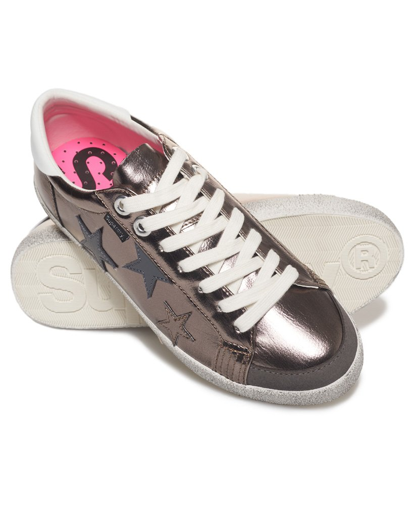 Superdry Super Sleek Logo Lo-Top Trainers thumbnail 1
