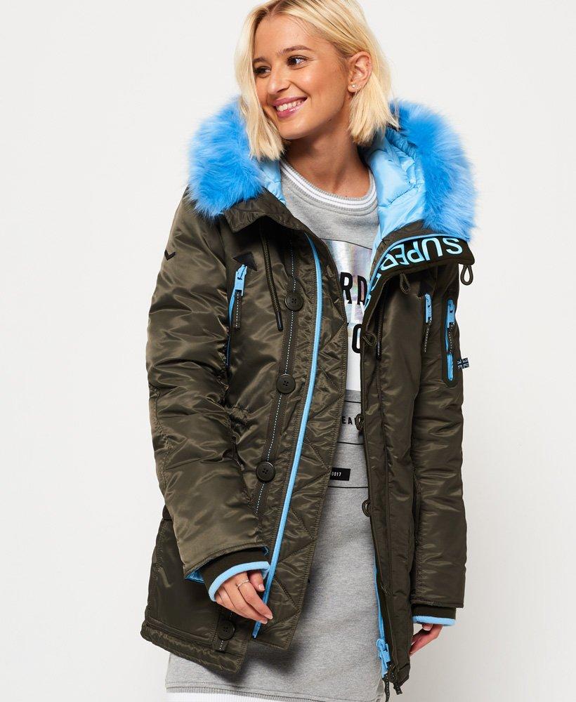 Superdry Parka SD L Vestes et manteaux pour Femme