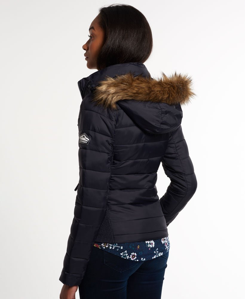 Superdry Fuji Slim Double Zip Hood Jacke Damen Jacken & Mäntel