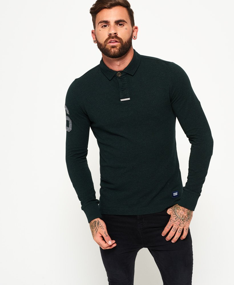 Superdry Academy Rugby Long Sleeve Polo Shirt  thumbnail 1