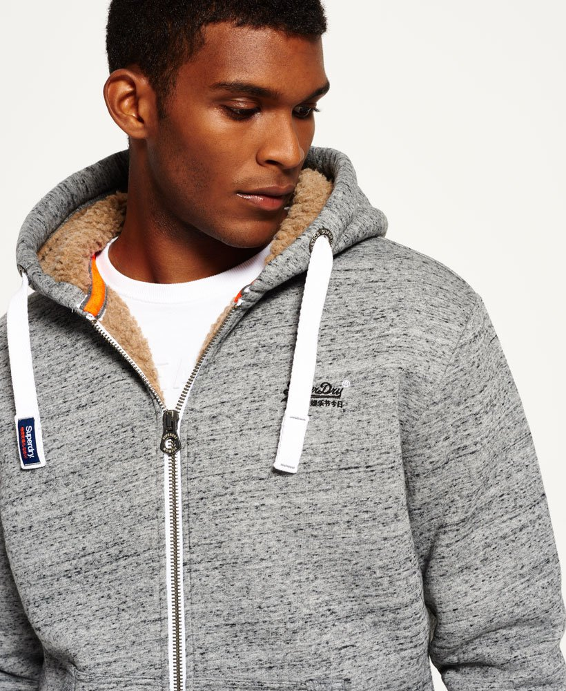 Superdry Sweat à capuche et tirette Orange Label Heavy