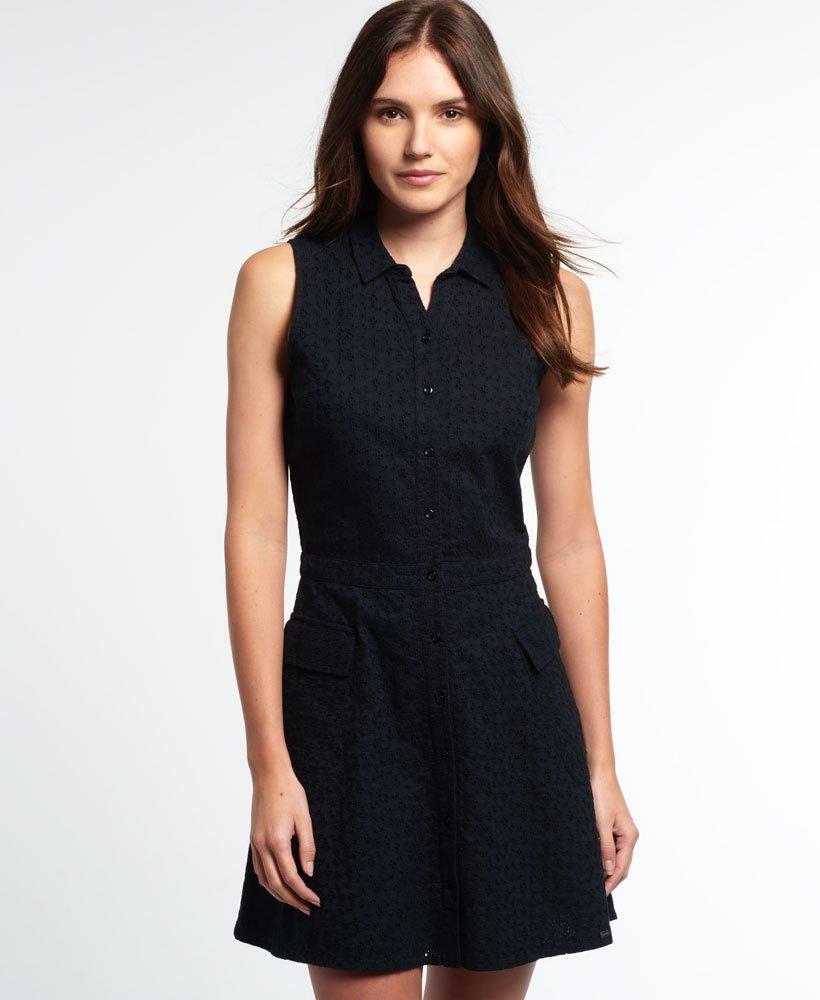 Superdry Robes Robe Chemisier Utility Broderie Pour Femme OZwukPiXT