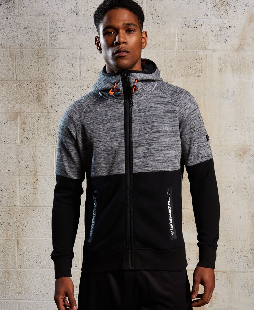 Superdry Gym Tech Colour Block Zip Hoodie