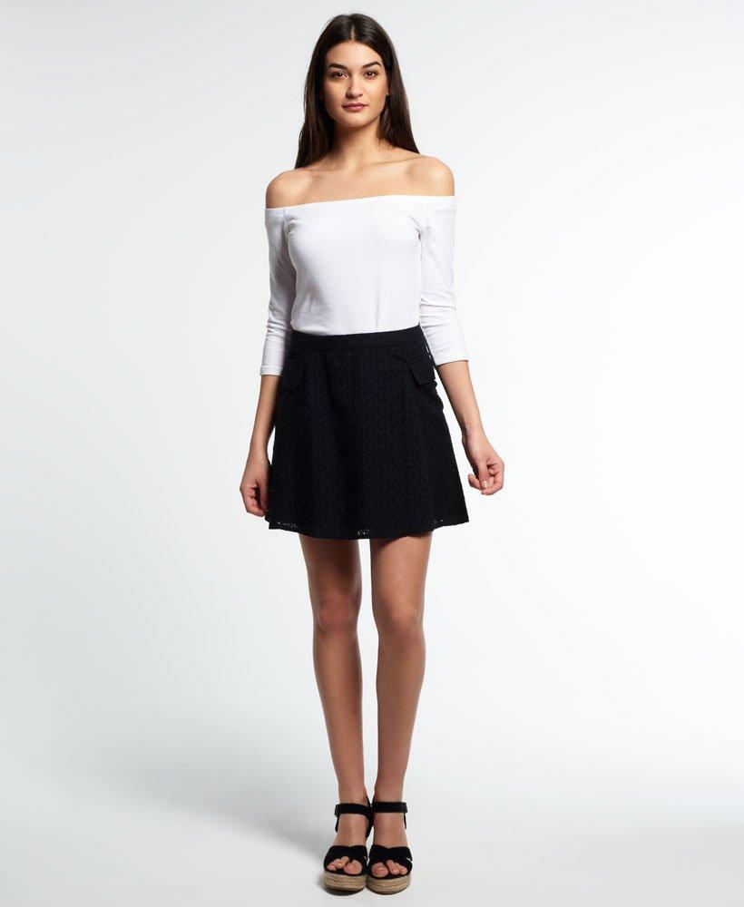 Superdry Broderie Utility Skirt