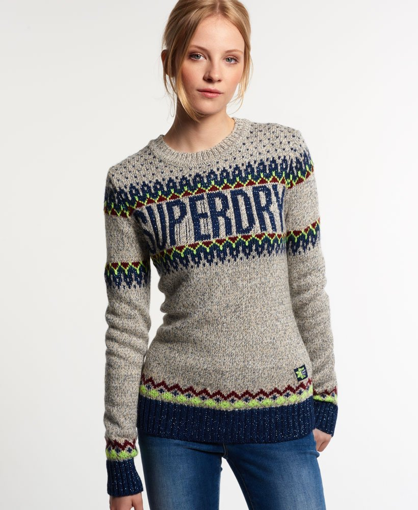 Superdry Pull en tricot Morzine Maille pour Femme