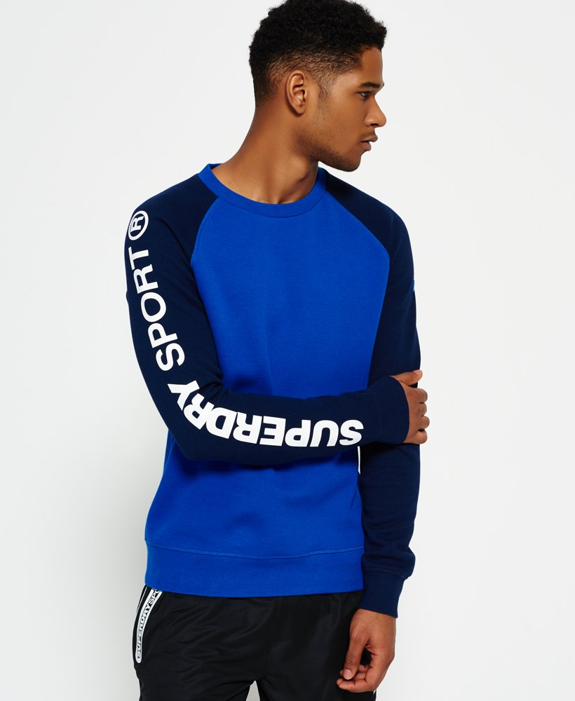 Superdry Gym Tech Raglan Crew Neck Sweatshirt