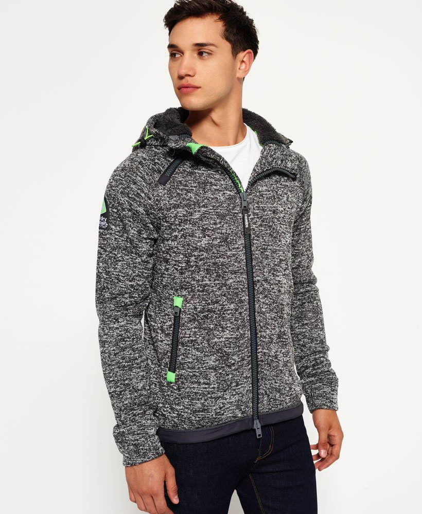 XXXL S Superdry Men/'s Storm Double Zip hood Sweatshirt Light Grey Grit Size