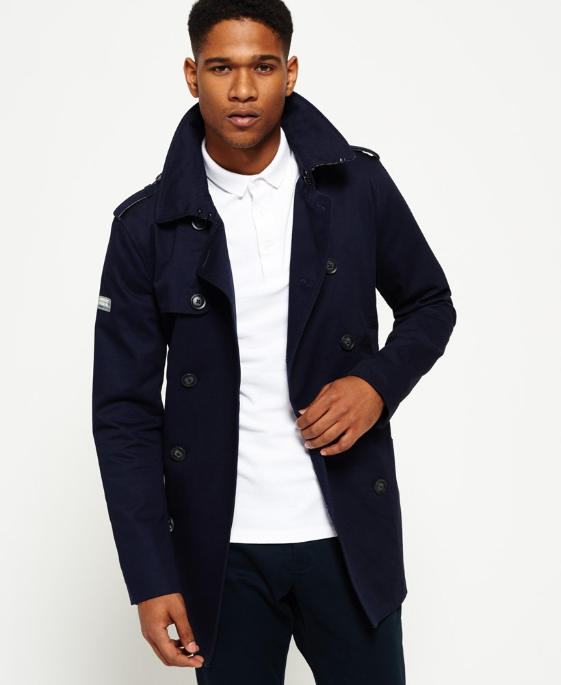 Superdry Remastered Rogue Trench Coat - Men's Jackets