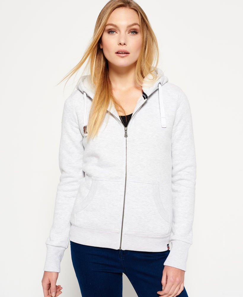 Superdry Orange Label Luxe Sherpa Zip Hoodie Women's Hoodies