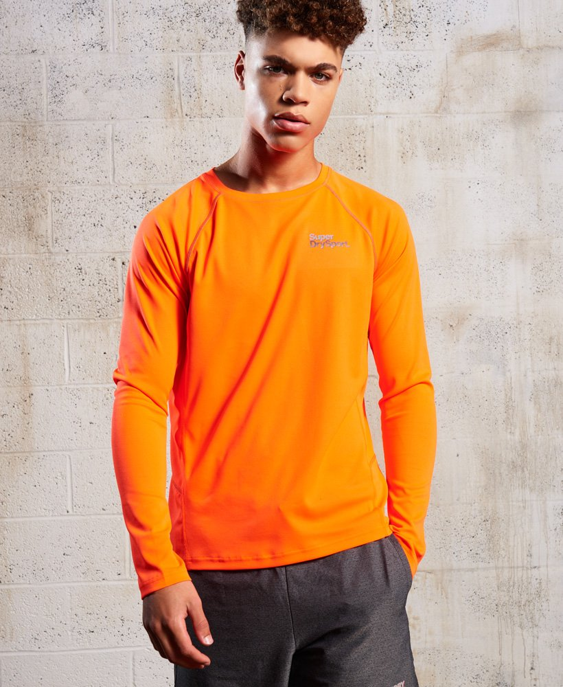 Superdry Core Train Pique Long Sleeve Top