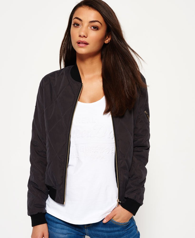 Superdry Dust Quilt Bomber Jacket thumbnail 1