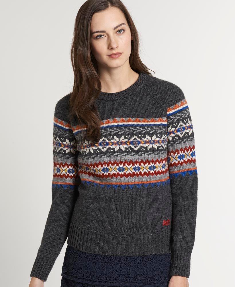 rabat kigge på tjek Superdry Geisler Fairisle sweater - Damer Strik
