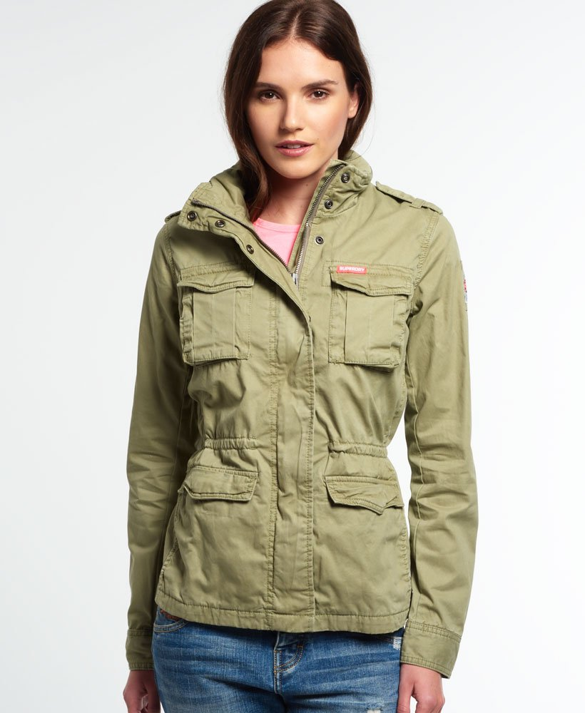 promo code 51be2 58cd0 Superdry Rookie Military Jacket for Womens