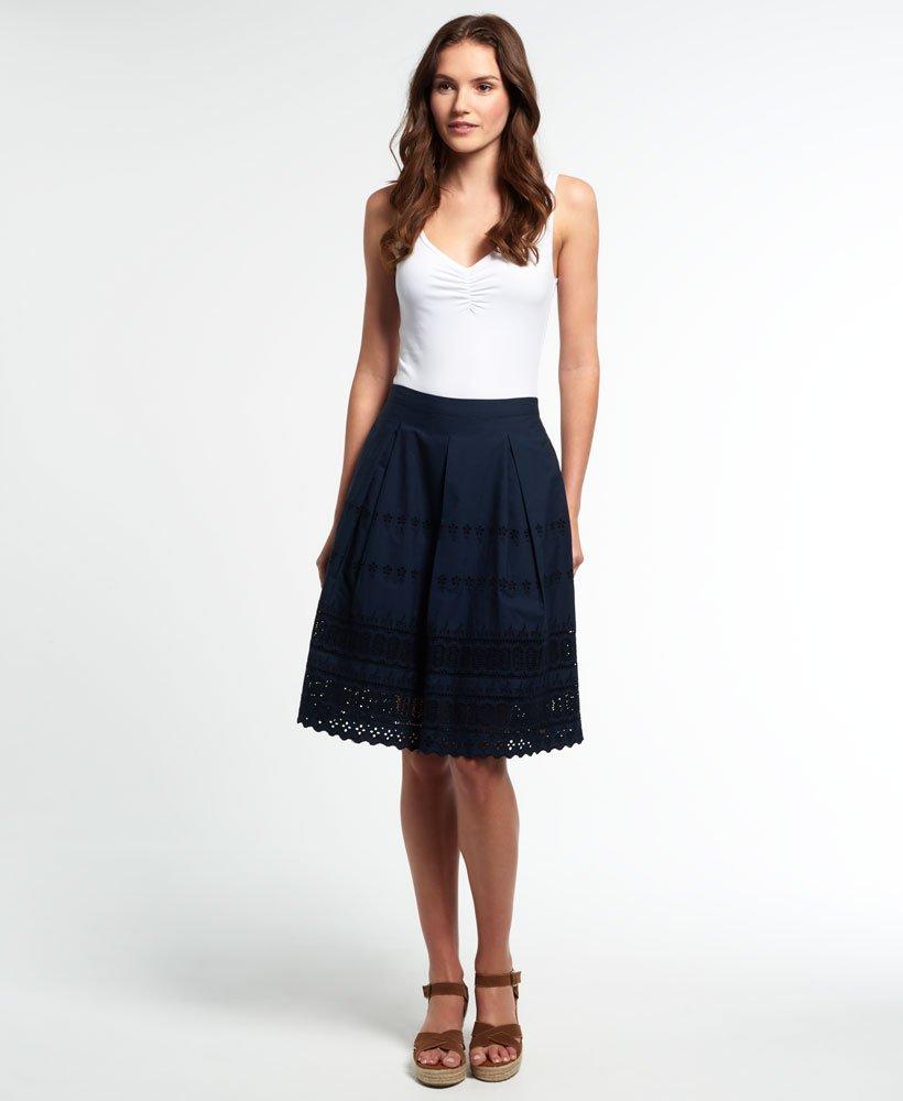 Superdry Broderie Shimmer Midi Skirt thumbnail 1