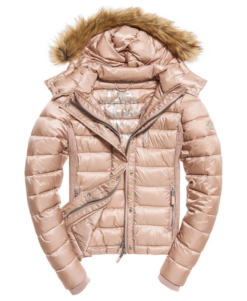 Superdry Luxe Fuji Double Zip Kapuzenjacke Damen Jacken