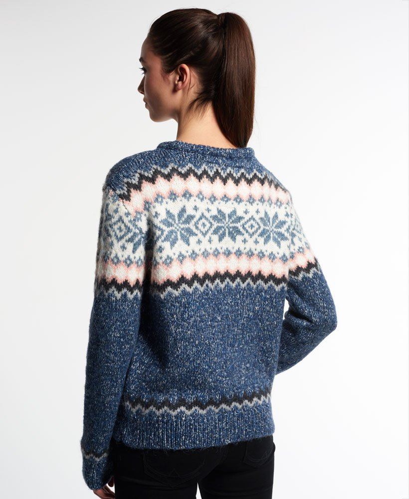 Fairisle Femme Snowflake Pour Maille Pull Zwhzx Superdry IrPwqrB5