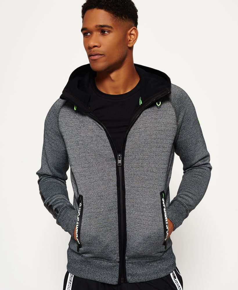 sweat capuche zippé superdry gym tech