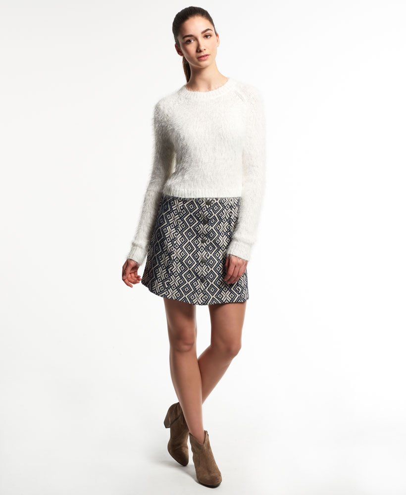 Superdry Jacquard Button Through Skirt