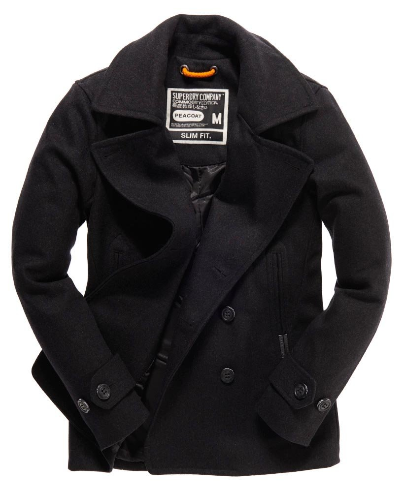 Superdry Commodity Slim Pea Coat thumbnail 1