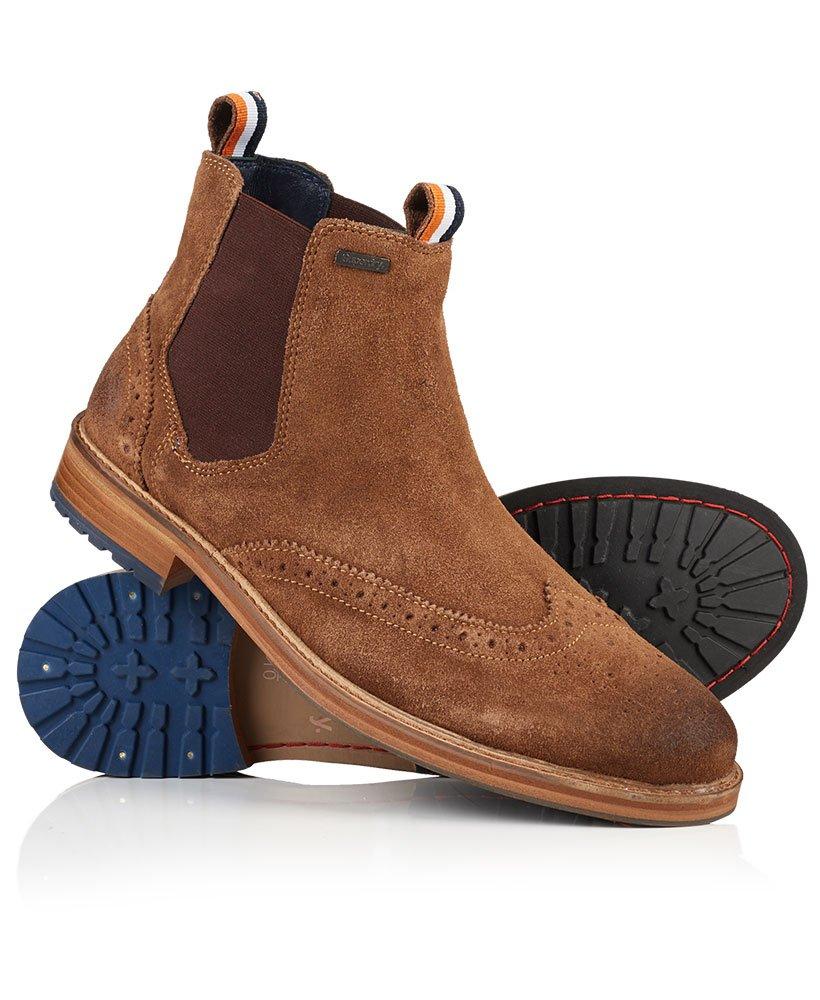 b9a037fe280 Brad Brogue Suede Chelsea Boots,Mens,Boots