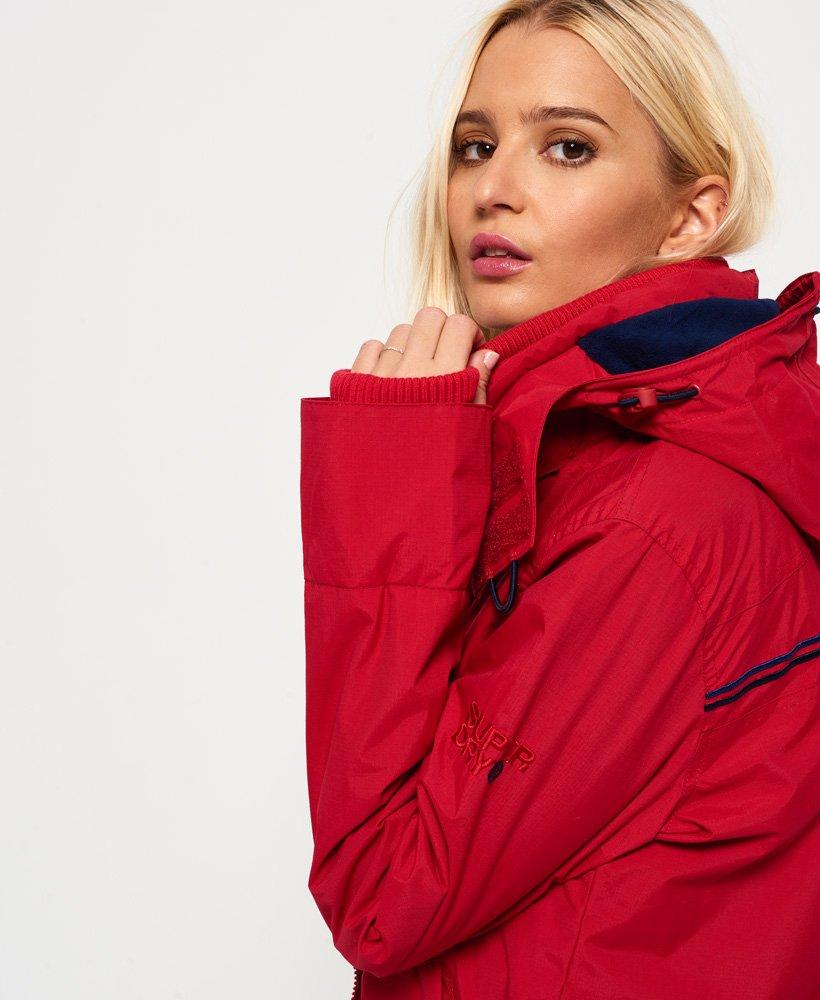 veste à capuche pop zip arctic sd-windcheater rouge