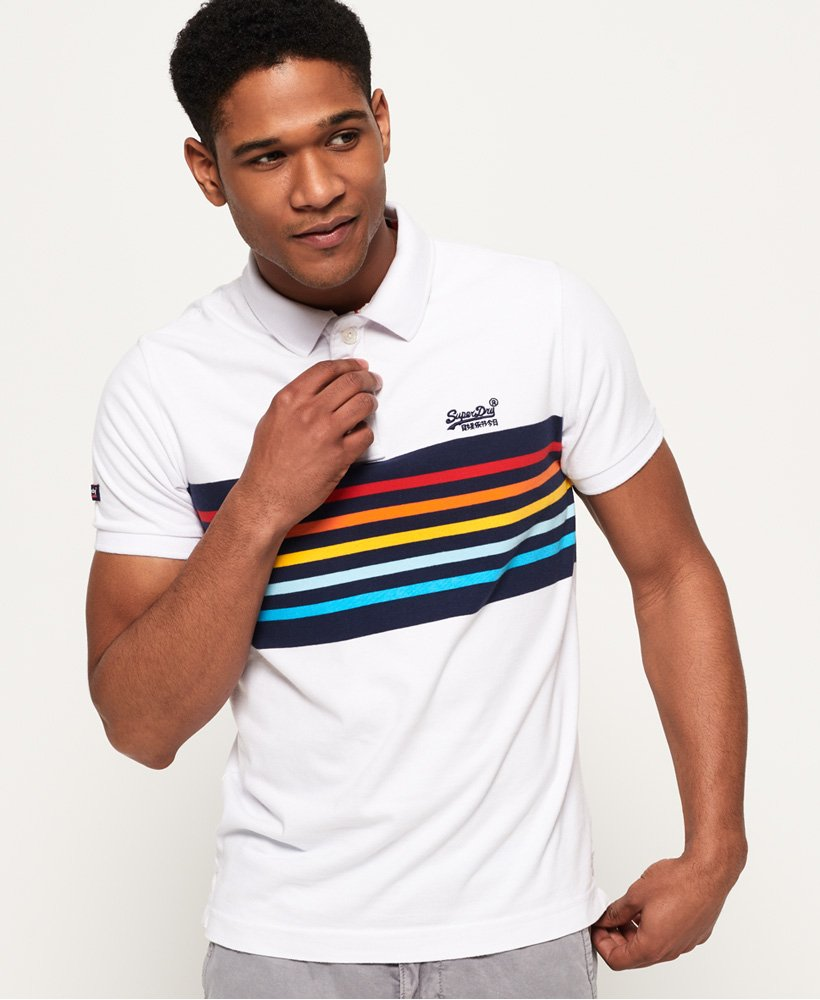 Superdry Mens Classic Cali Banner Polo Shirt