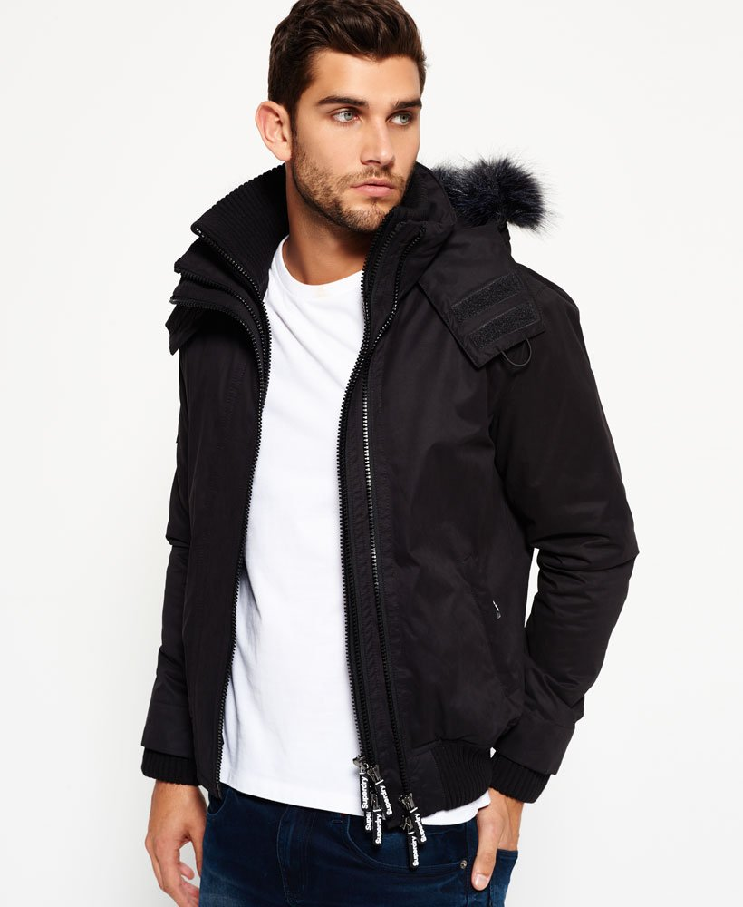 Superdry Microfibre Faux Fur Hooded SD-Windbomber Jacket