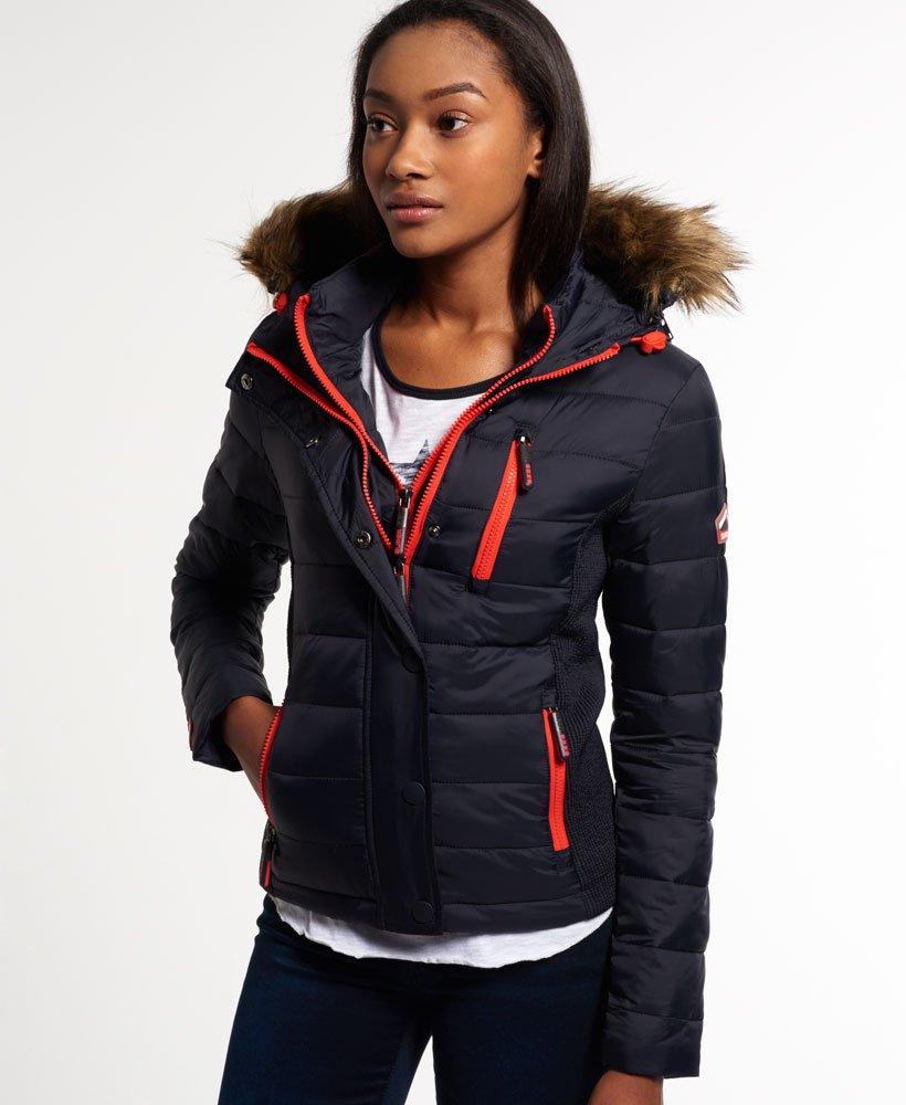 new style dda2c 87d59 Superdry Fuji Slim Double Zip Hood Jacket - Women's Jackets ...