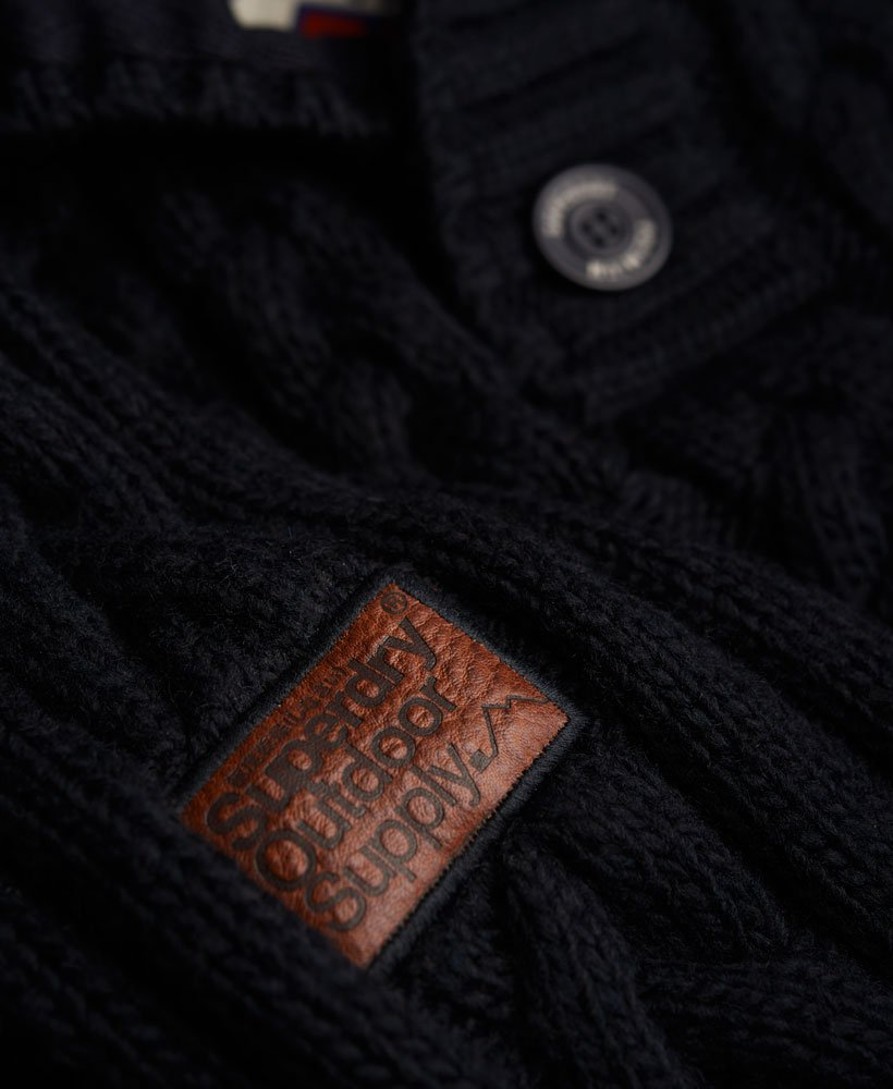 Pull Ml Henley Torsade Ultimate Cable Col Camionneur Superdry Ecru
