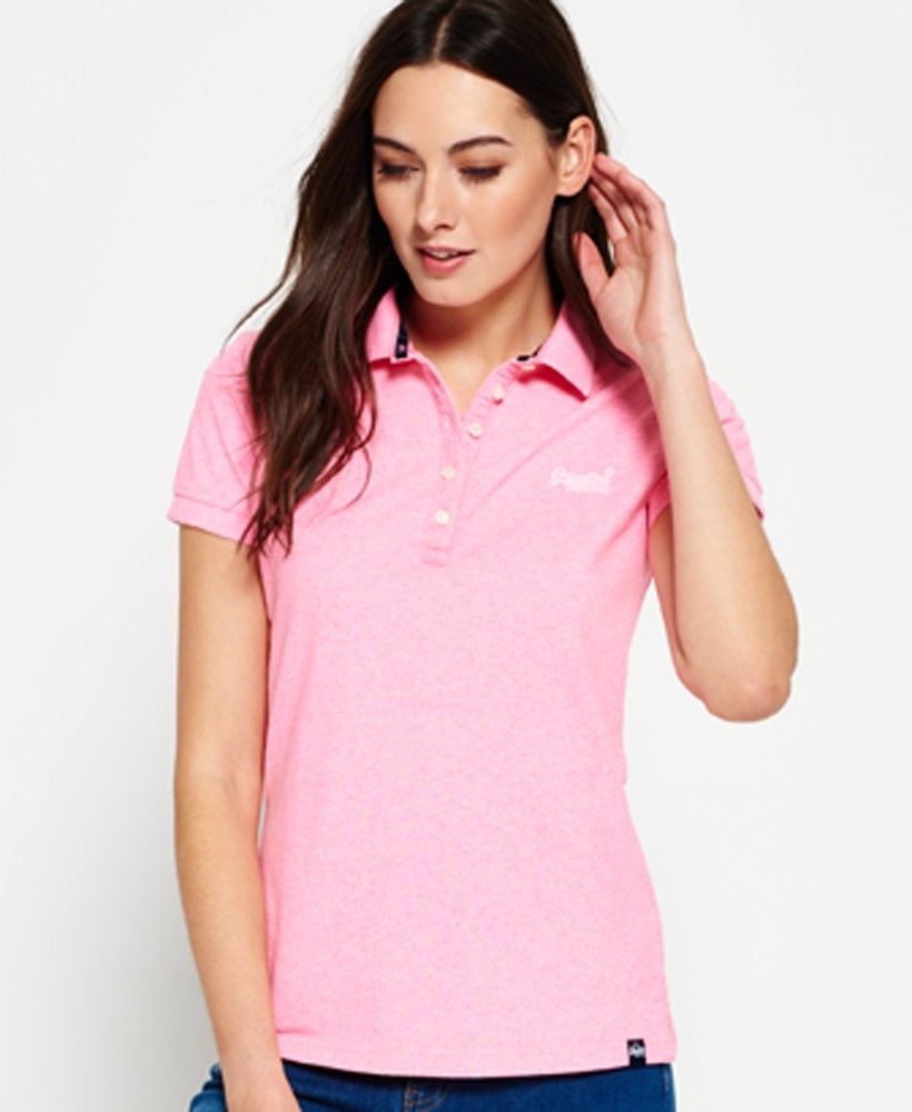 exclusive deals sneakers new lifestyle Womens - Classic Polo Shirt in Pastel Pink | Superdry