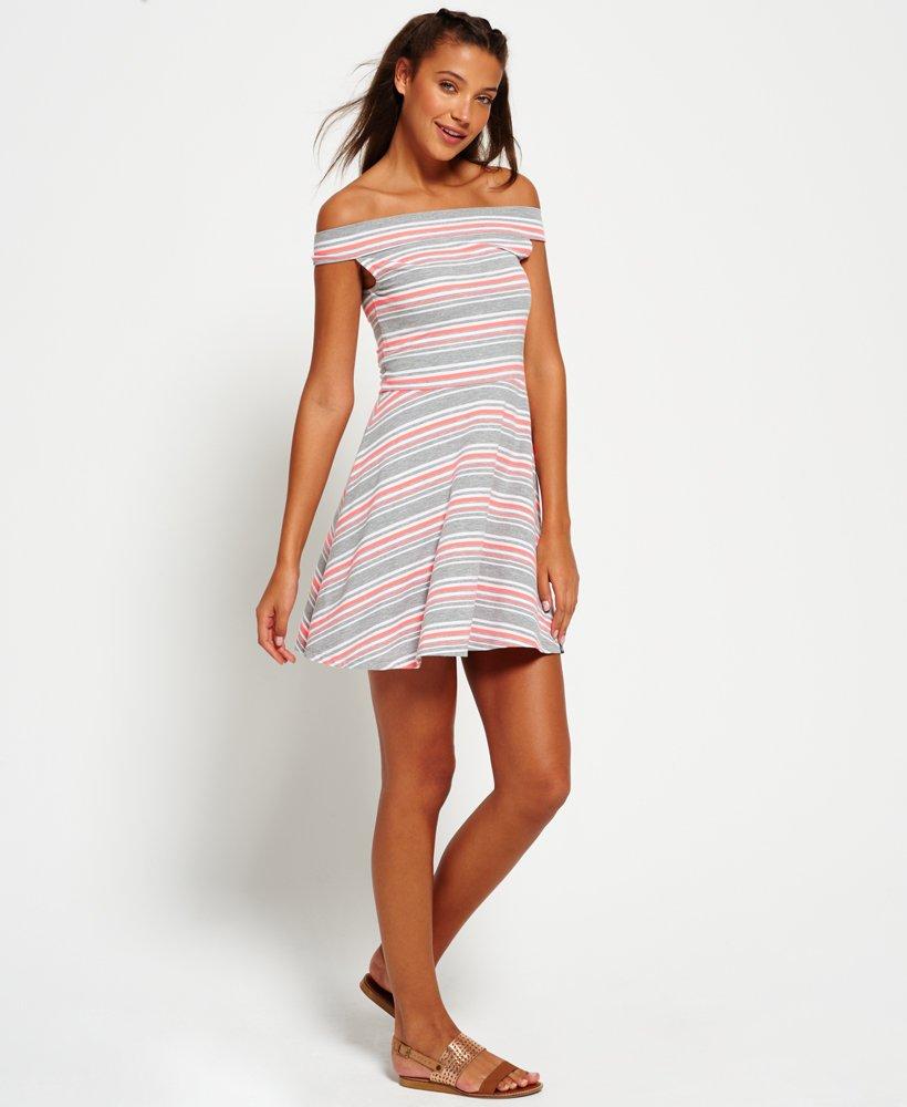 301f3e00 Superdry Bardot Skater-kjole - Dame Kjoler