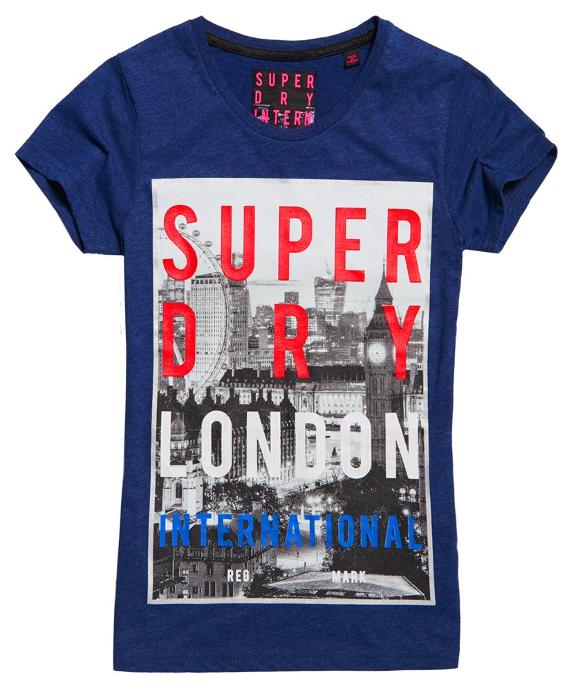 Womens Box Photo City London T shirt in Princeton Blue