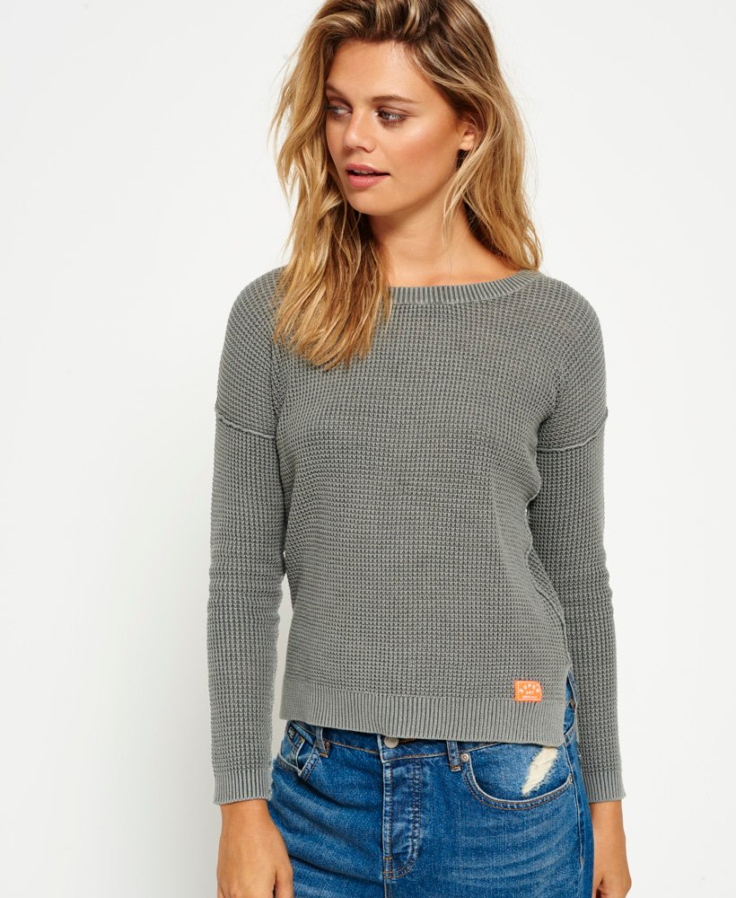 Superdry Indiana Waffle Stitch Slouch Knit Jumper thumbnail 1