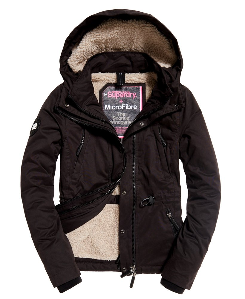 Womens Boxy Snorkle Hooded SD-Wind Parka Jacket Super Dark Navy Superdry