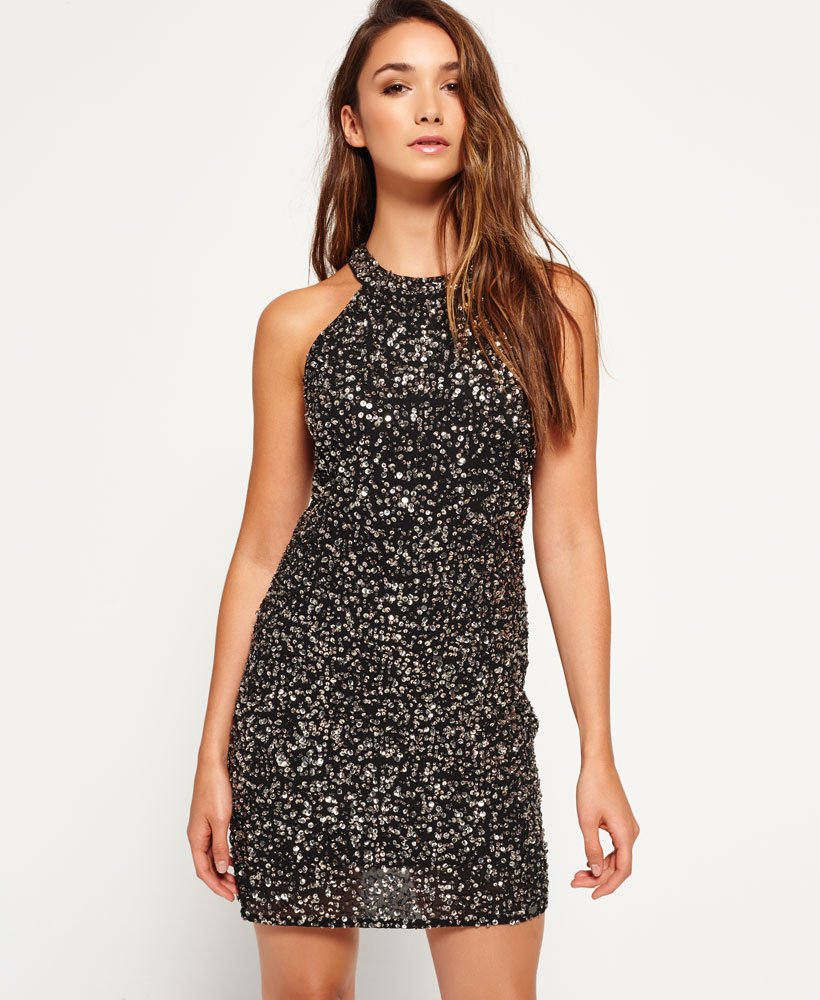 Superdry Sequin Luxe Bodycon-Kleid